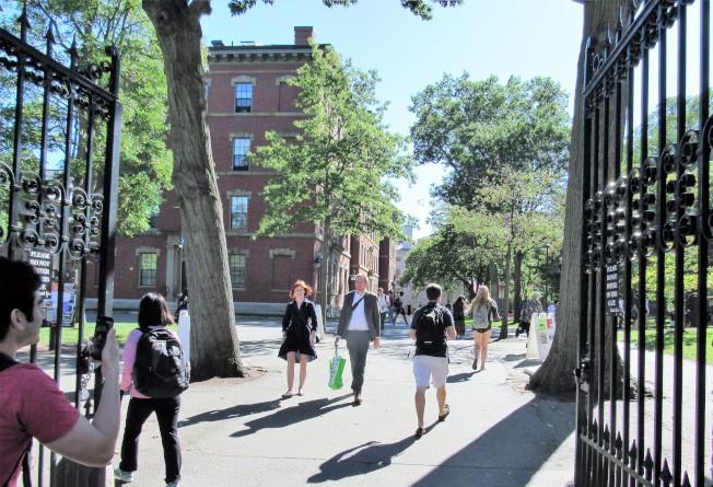 哈佛大學被告招生過程對亞裔不公。校長法絲特12日高調發信駁斥。(記者唐嘉麗/攝影)