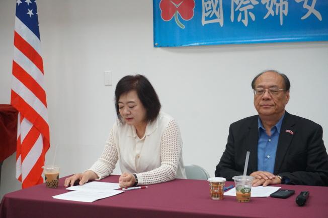孫運悌(左一)表示,因為自己的女兒是重度憂鬱症患者,對於憂鬱症有深切的感受。(記者林群/攝影)