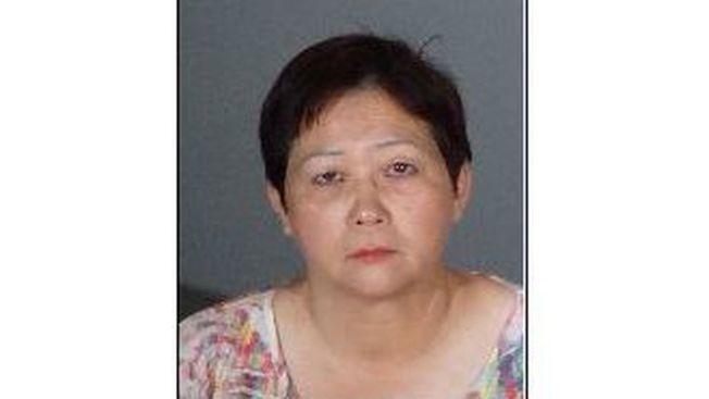 60歲的保母羅海倫(Helen Law ,譯音)涉嫌將六歲男童鎖在高溫的車內兩小時被逮捕。(阿市警局提供)
