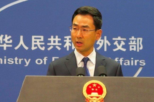 中國外交部發言人耿爽。 中央社