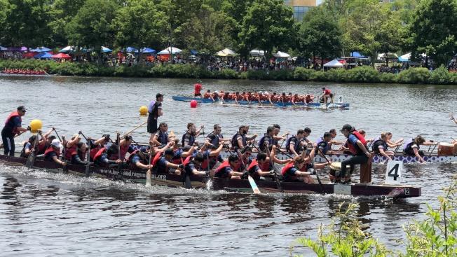 2018年度波士頓香港龍舟賽,有來自社區、高校、俱樂部和公司企業的74支隊伍參與。(記者劉晨懿之/攝影)