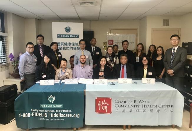 王嘉廉社區醫療中心等社區機構20日在法拉盛舉辦長者健康關懷日。(記者劉大琪/攝影)