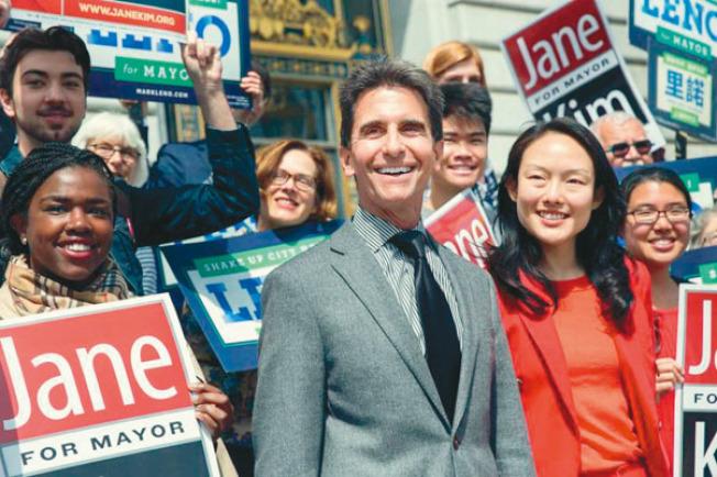 選前一個月,里諾和金貞妍聯手呼籲支持者把「第2選擇」投給對方;該策略讓里諾的得票率一度領先布里德,差點讓「里金組合」贏得市長寶座。(Getty Images)