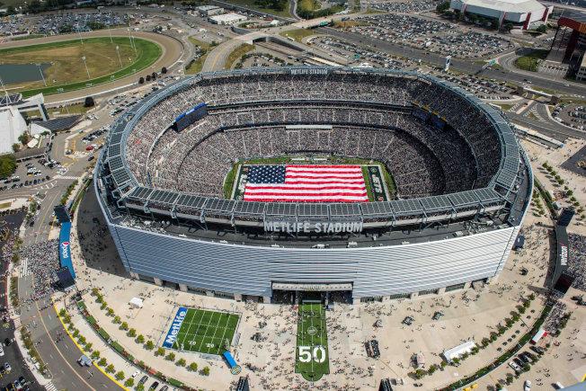 2026年世足賽由美墨加三國合辦,圖為屆時舉行決賽的新澤西州大都會人壽體育場。(路透)