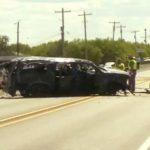 超載SUV飛車逃攔檢 時速破百翻車5死