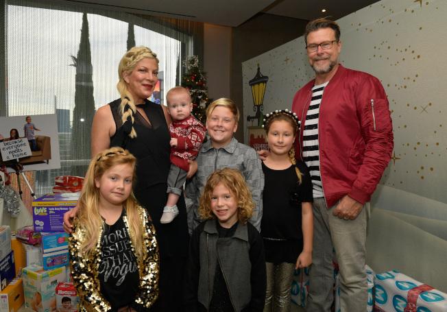朵莉史貝林與加拿大演員狄恩麥德爾蒙特結婚,育有五名子女。(美聯社)