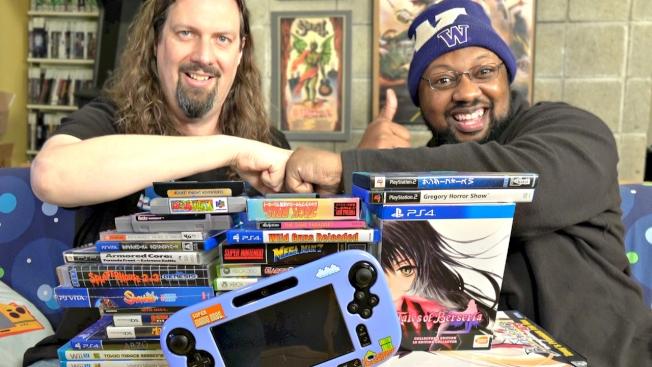YouTube频道知名电玩人物威廉斯(右,Reggie Williams)。图截自YouTube