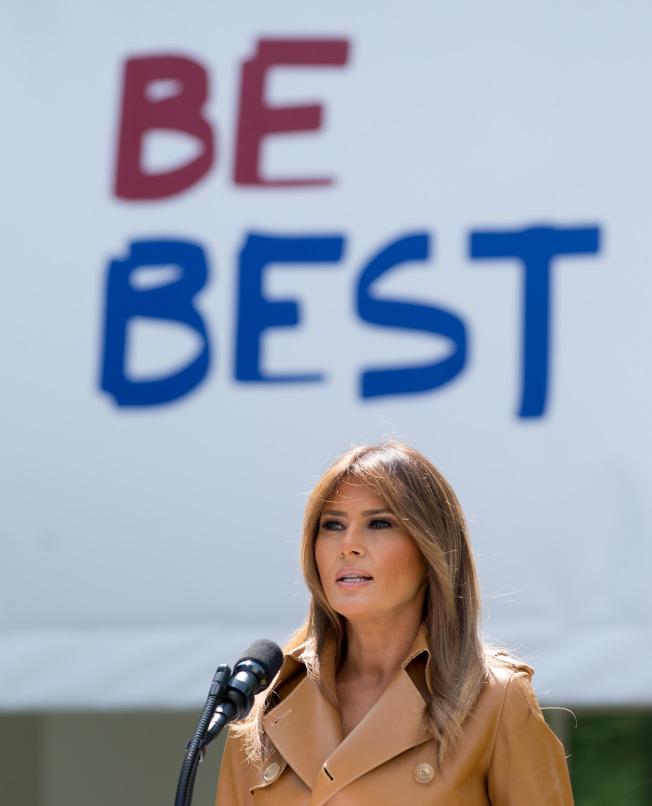 第一夫人梅蘭妮亞公開聲明,反對拆散無證移民家庭。(Getty Images)