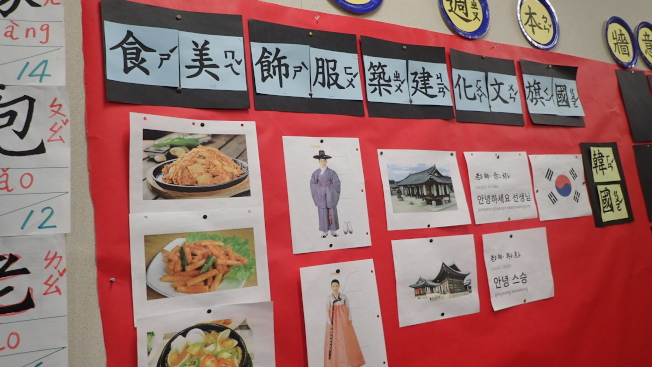 華僑中文學校將國家主題帶入中文課程。(華僑中文學校提供)