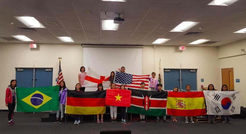 今年的國家主題依序包括韓國、西班牙、肯亞、美國、越南、英國、德國、以及巴西。(華僑中文學校提供)