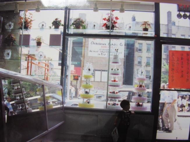 飛達西餅總店於1991年時剛開幕的店面。(記者顏嘉瑩/翻攝)