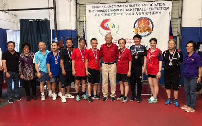 LA Open和越柬寮華人團體代表隊並列季軍。(記者楊青/攝影)