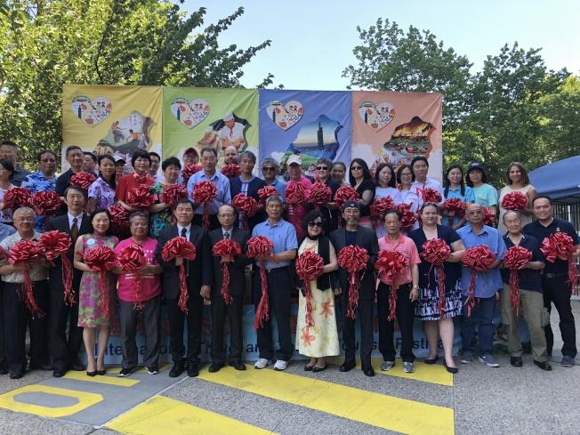 2018年國際觀光文化暨台灣旅遊節在華埠成功舉辦。(記者金春香/攝影)
