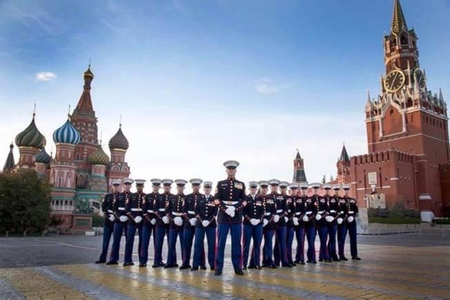 派駐美國海外使領館的陸戰隊警衛。(國務院外交安全局網頁)