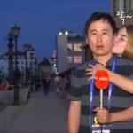 瘋世足/男記者直播遭正妹強吻 網友:算不算性騷?