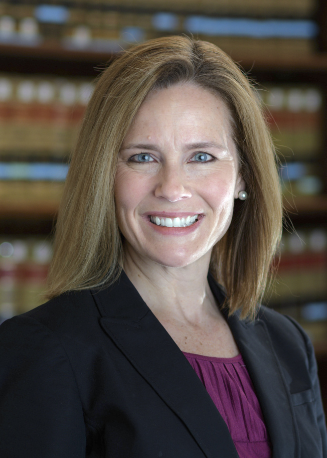 芭雷特(Amy Coney Barrett)是川普的大法官考慮人選中唯一的女性。(Getty Images)