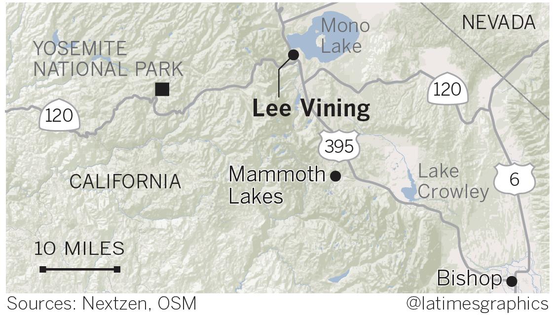 位於加州與內華達州邊界的莫諾湖為一鹹水湖。(洛杉磯時報)