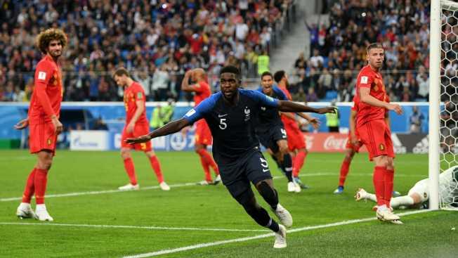 後場大將烏姆蒂蒂頭球建功,送法國隊進入決賽。(取自國際足聯官方網站)