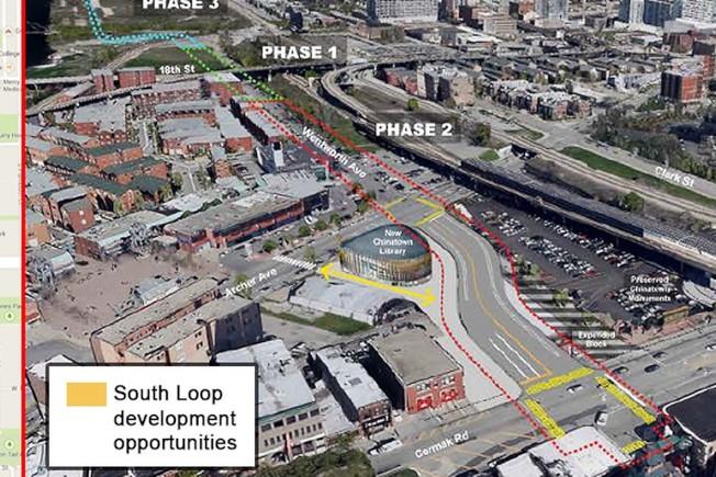 「威爾斯街─永活街連結」共分三階段工程計畫。(市府截圖)
