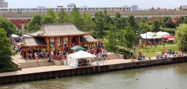 「譚繼平公園」的設計,洋溢濃濃中國風情。(芝加哥公園管理局官網截圖)