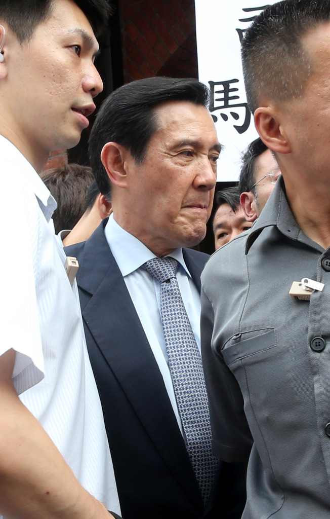 國民黨前主席馬英九遭台北地檢處起訴,圖為馬英九較早時被控在總統任內洩密。(本報系資料照片)