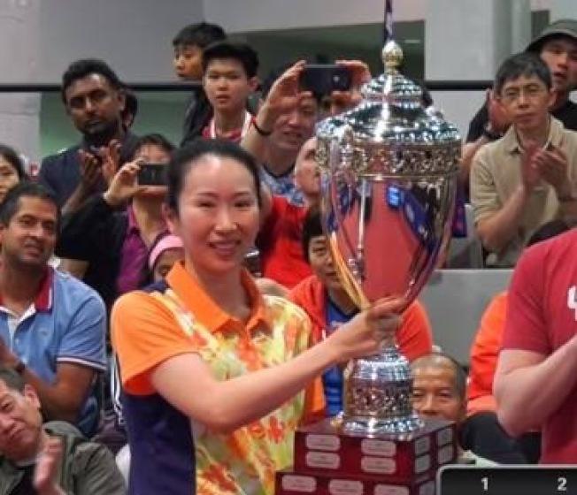 劉娟獲得美國乒乓球錦標賽女單冠軍。(劉娟提供)