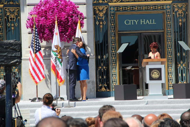 布里德宣誓就任舊金山市長(記者李晗/攝影)