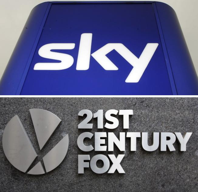 21世紀福斯公司(21st Century Fox)以每股14英鎊收購天空集團,買下尚未持有的61%天空股份。歐新社