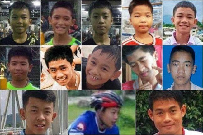中排左二為14歲的佤族少年阿杜。擷自泰國日報臉書
