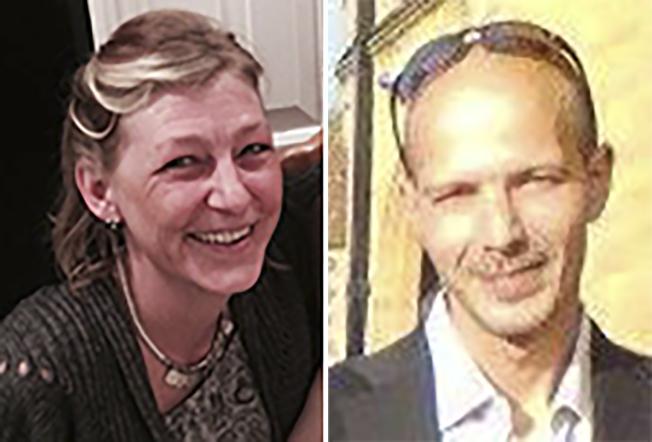 因接觸到高劑量神經毒劑諾維喬克而性命垂危的英國男子羅利(右),目前已不再處於危急狀態。圖左為羅利女友史特吉斯同遭毒害,8日不治身亡。Getty Images