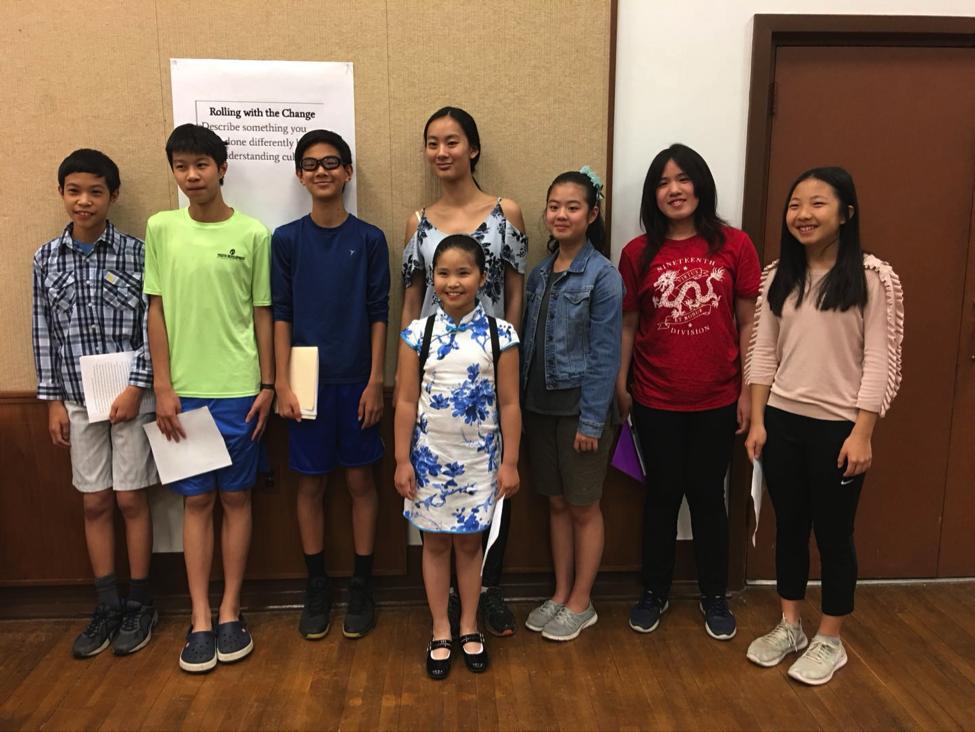蒙郡華人學生為爭取春節放假,兩度前往教委聽證會作證。(CAPA-MC提供)