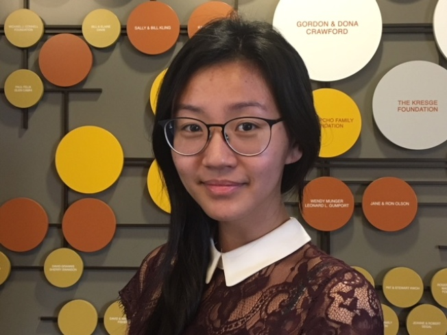 畢業於柏克萊加大的亞美政聯市場開發主任潘芸表示,亞裔社區讓她有更大發展空間。(記者楊青/攝影)