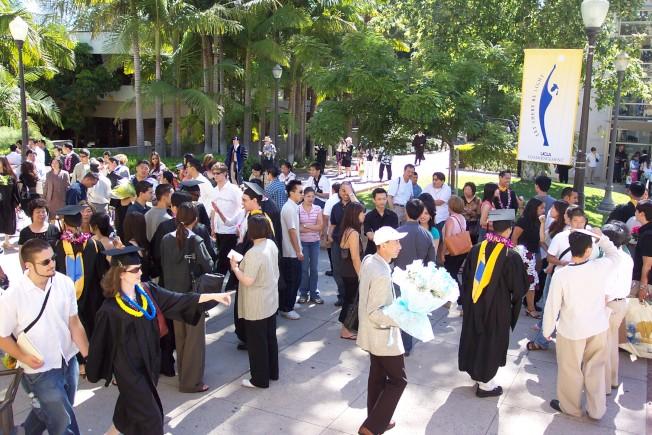 洛杉磯加大是各族裔學生最愛,新生申請人數占全美高校第一。(記者丁曙/攝影)