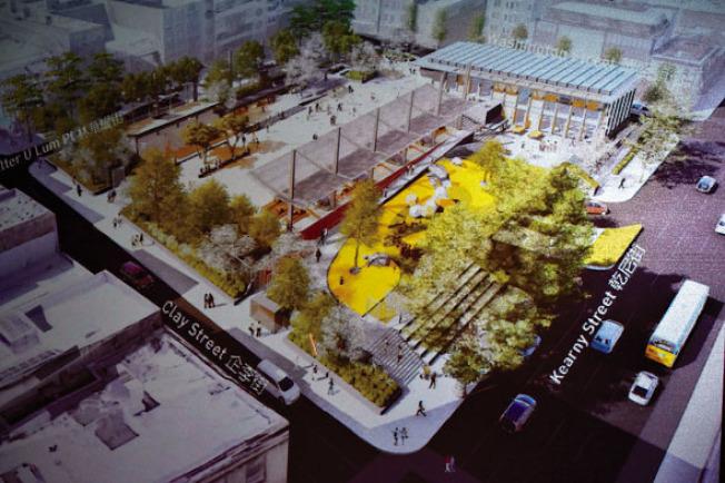康樂及公園局公布重建花園角的最後設計方案,天橋拆卸,各項設施面積倍增。(記者李秀蘭/攝影)