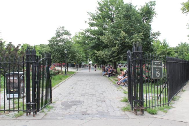 Maria Hernandez公園是社區民眾鐘愛的休閒娛樂場所。(記者劉大琪/攝影)