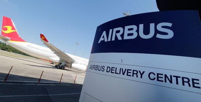 空中巴士一批原本要交付海航旗下航空公司的A330廣體客機目前停在空巴土魯斯總部的停機坪。路透
