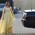 〈圖輯〉川普夫婦訪英 第一夫人鵝黃禮服驚豔全場