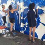 華埠「青花瓷」壁畫 完工慘遭塗鴉