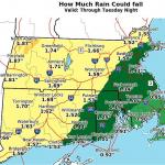 周二降大雨  氣象局發布警告