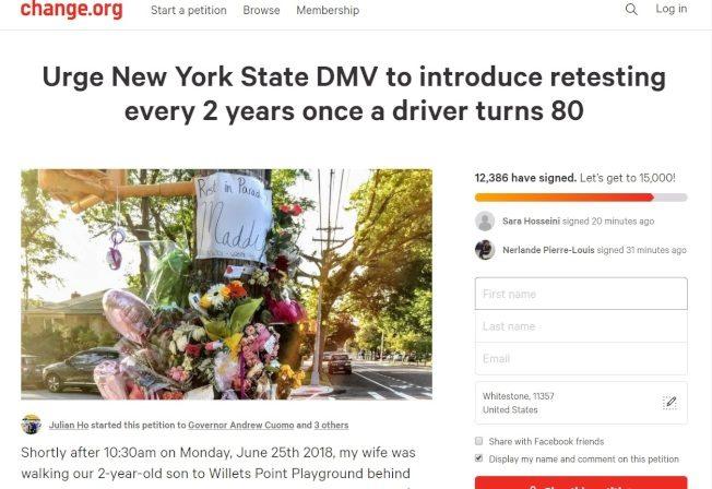 逾萬人連署 籲改耆老換駕照制