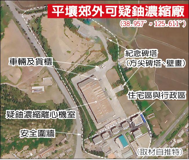 平壤郊外可疑鈾濃縮設施