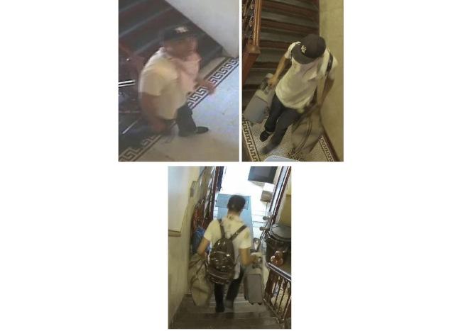 進入Kenmare街公寓內盜走大量物品的嫌犯。(五分局提供)
