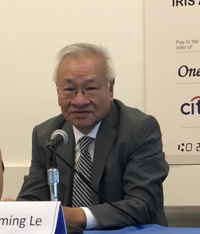 樂俊民1979年來美時身上只有200元,但如今他創辦的基金會已捐款2000萬元。(記者陳小寧/攝影)