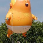 〈圖輯〉巨嬰川普氣球飄揚倫敦上空 成為新景點