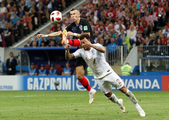 第68分鐘,克羅埃西亞4號球員Ivan Perisic踢進一球!路透