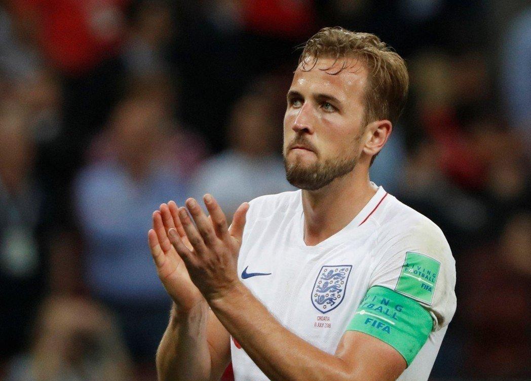 英格蘭4強賽不敵克羅埃西亞,隊長凱恩(Harry Kane)難掩失望。 路透