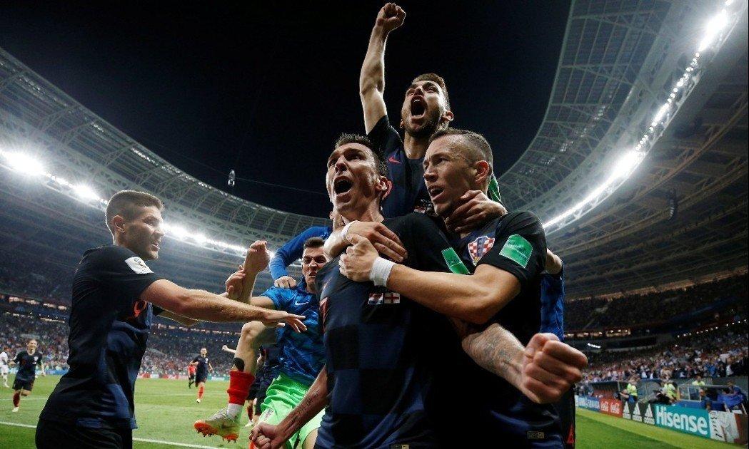 克羅埃西亞在延長賽以2:1擊敗英格蘭,將與法國爭冠。 路透