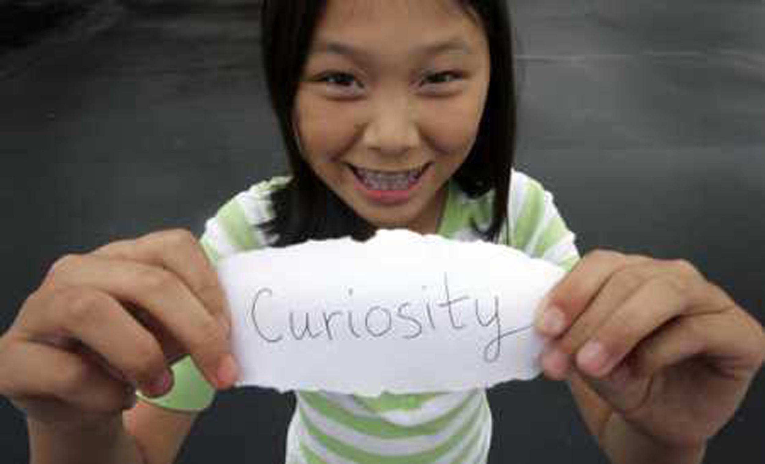 馬天琪為「好奇號」(Curiosity)命名。(NASA)