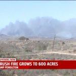 聖地牙哥野火 潘德頓營燒千畝