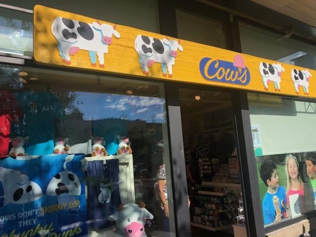 Cows冰淇淋。(記者張宏攝影)